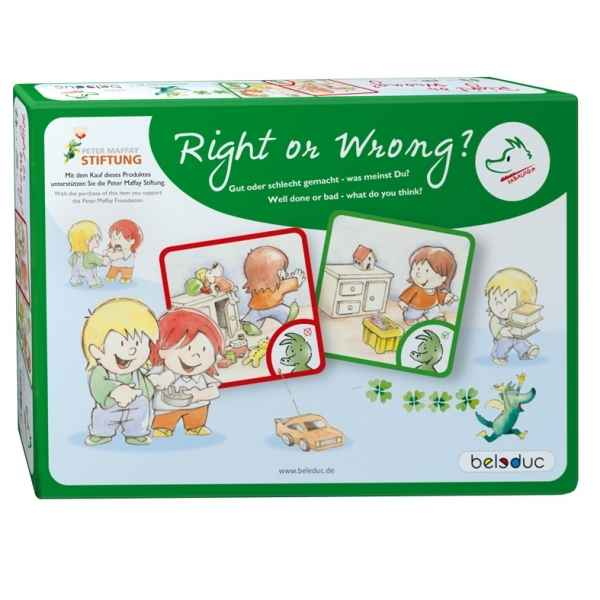Jeu de cartes right or wrong Beleduc -19002