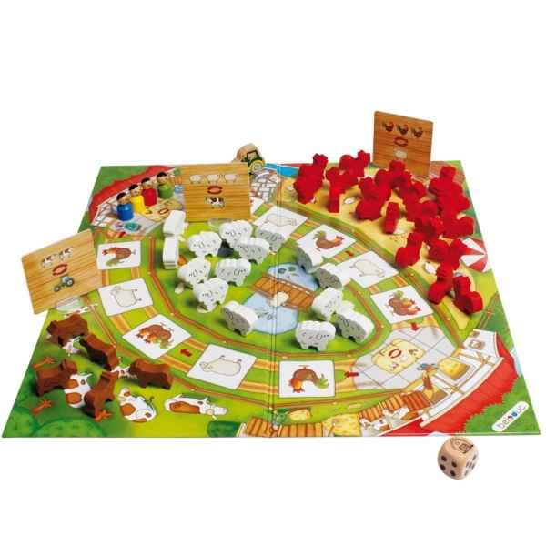 Jeu de societe happy farm Beleduc -22710