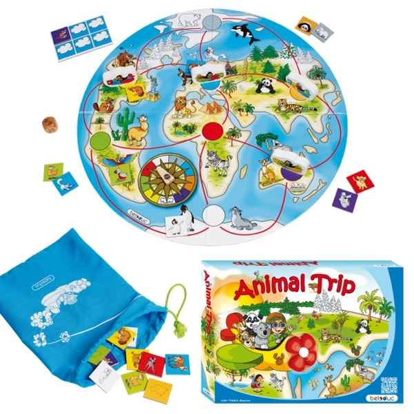 Jeu de societe one world animal trip Beleduc -22730