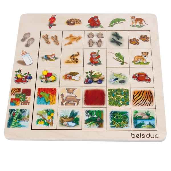 Jeu de tri sorting set jungle Beleduc -11070