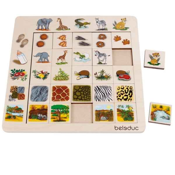 Jeu de tri sorting set savanne Beleduc -11060