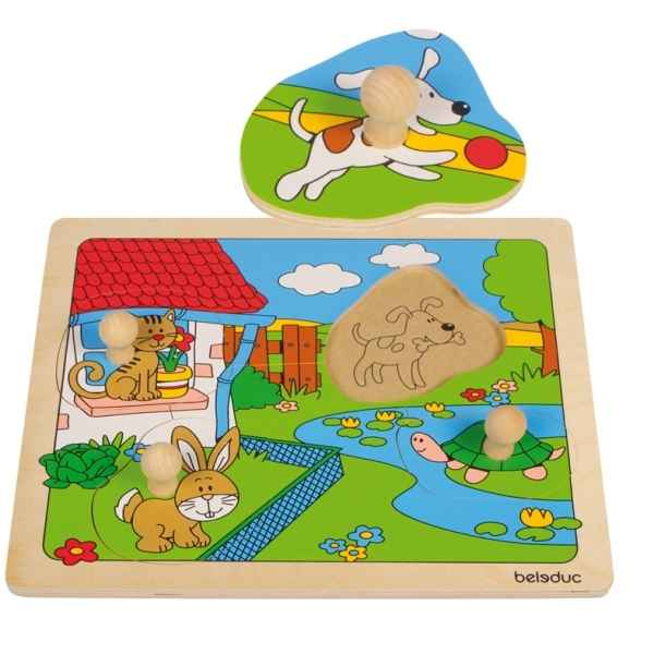 Puzzle a boutons animaux Beleduc -10146