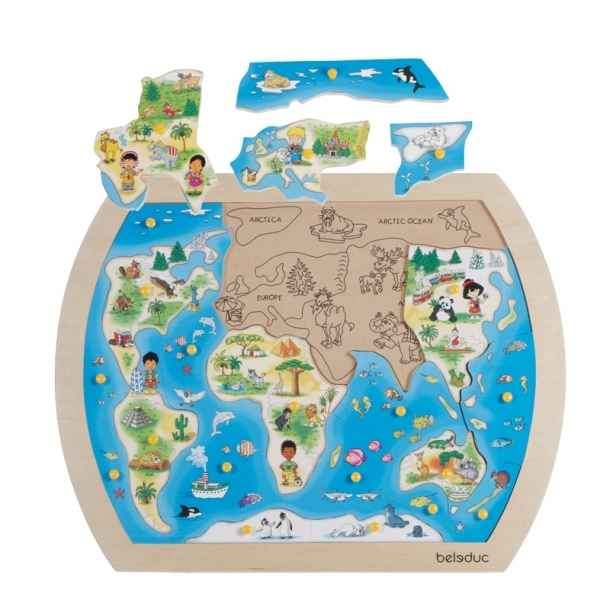 Puzzle a boutons one world Beleduc -10151