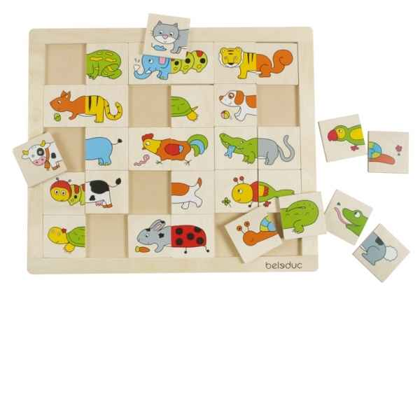 Puzzle match & mix animaux Beleduc -11006