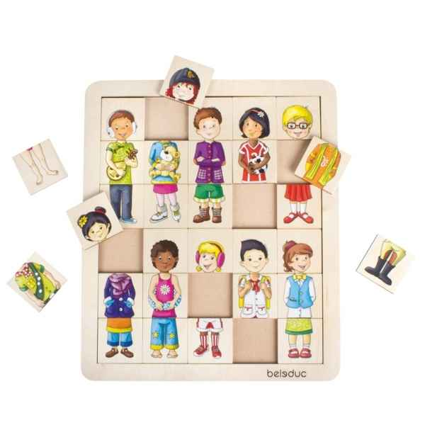 Puzzle match & mix enfants Beleduc -11130