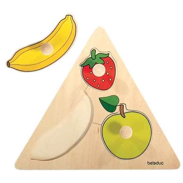 Puzzle triangle a boutons fruits Beleduc -10120