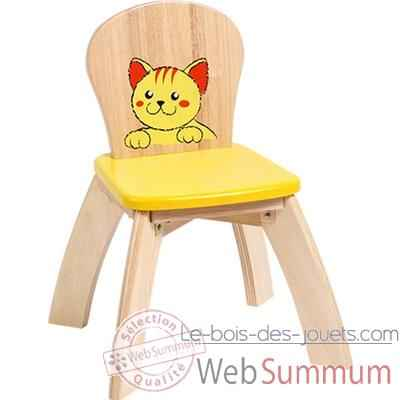 chaise jaune en bois pour enfants voila s019d de vilac dans jouet vilac. Black Bedroom Furniture Sets. Home Design Ideas