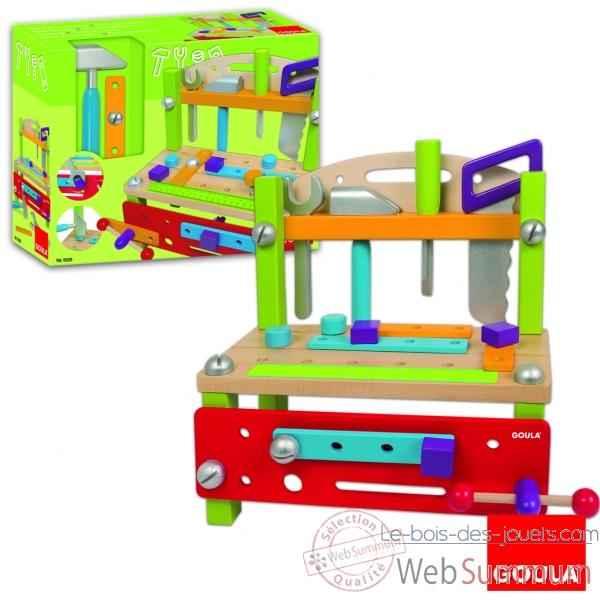 etabli goula 55228 dans jouets en bois de jouet bois goula sur le bois des jouets. Black Bedroom Furniture Sets. Home Design Ideas