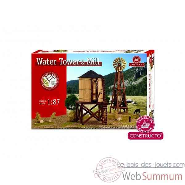 Set water tower + mill Constructo -80310