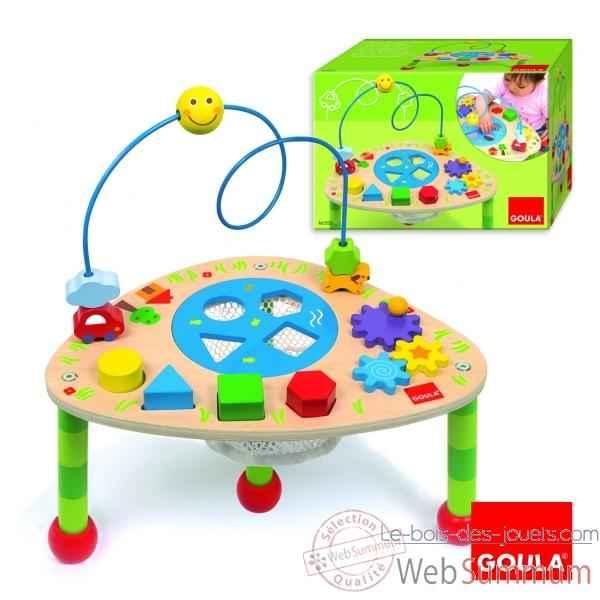 table activit s goula dans jeu et eveil de jouet bois goula sur le bois des jouets. Black Bedroom Furniture Sets. Home Design Ideas