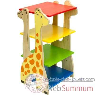 Etagère girafe en bois pour enfants Voila - S024A de Meubles déco Enfant