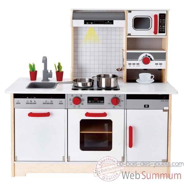 cuisine tout en un hape e3145 dans jouet avec accessoires sur le bois des jouets. Black Bedroom Furniture Sets. Home Design Ideas