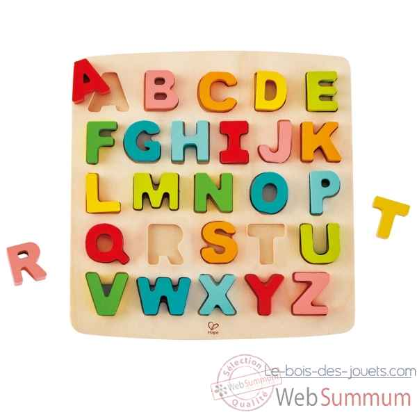 Puzzle a grosses pieces - alphabet Hape -E1551