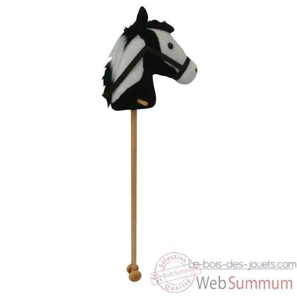 peluche baton cheval cheval noir et blanc histoire d 39 ours 2097 de histoire d 39 ours. Black Bedroom Furniture Sets. Home Design Ideas