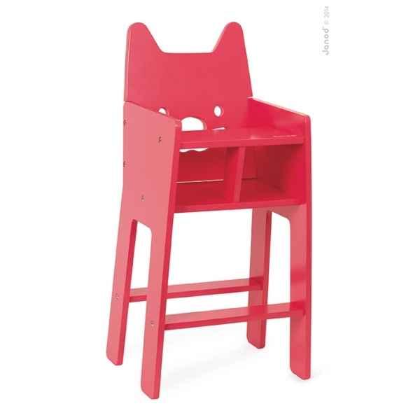 chaise haute babycat janod j05896 dans jouets en bois janod sur le bois des jouets. Black Bedroom Furniture Sets. Home Design Ideas