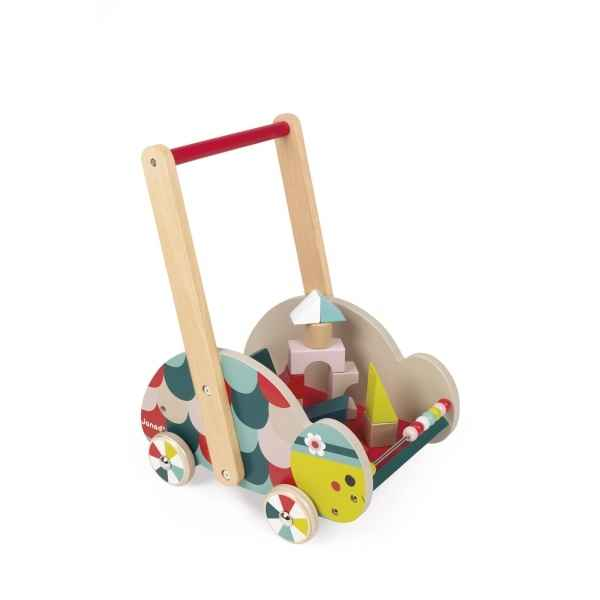 Chariot d'eveil tortue - baby forest janod -j08009