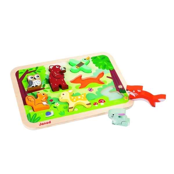 Chunky puzzle foret Janod J07023