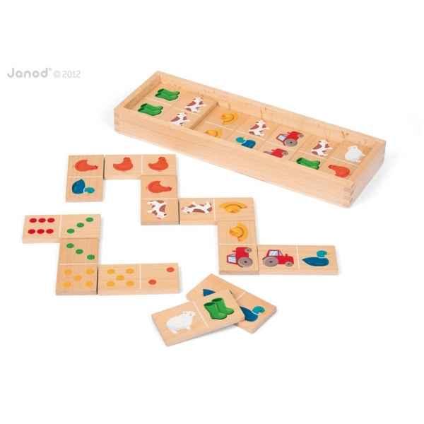 Dominos ferme 28 pcs Janod J08167 dans Jouets en bois