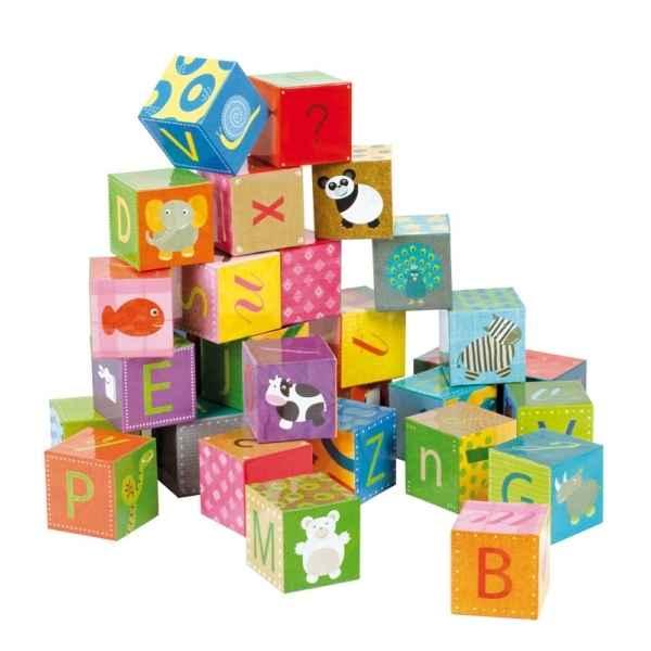 kubkid 32 cubes alphabet janod dans jouets en bois janod sur le bois des jouets. Black Bedroom Furniture Sets. Home Design Ideas