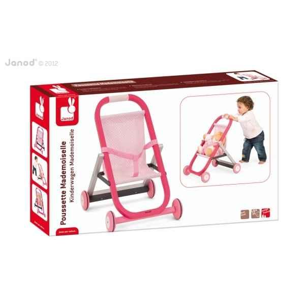 poussette mademoiselle janod j06535 dans jouets en bois janod sur le bois des jouets. Black Bedroom Furniture Sets. Home Design Ideas