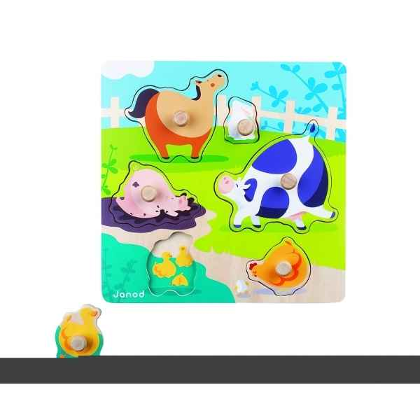 Puzzle happy farm Janod J07006