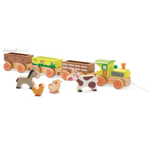 Story - baby train ferme Janod -J08536