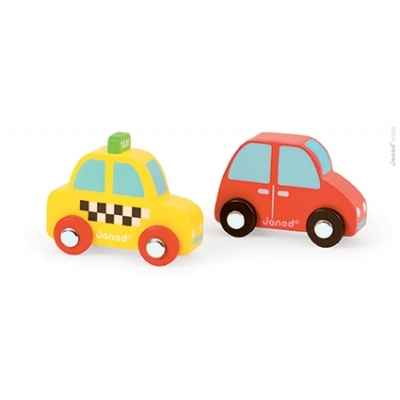 Story set city taxi + voiture rouge Janod -J08565
