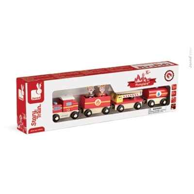 Story - train pompiers Janod -J08540
