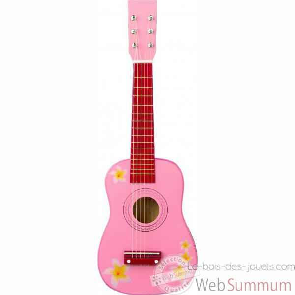 Guitare couleur rose - 0348
