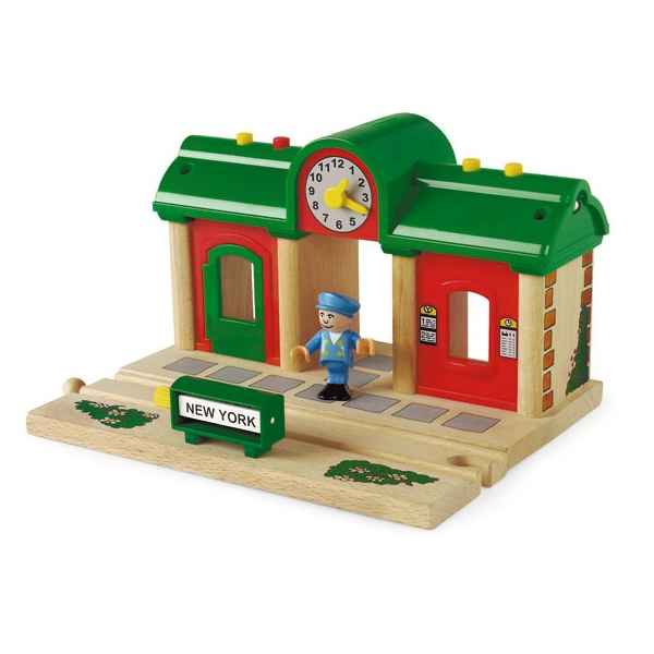 Video Gare en bois interactive - Brio 33668000