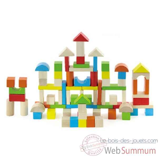 Baril de cubes - multicolores - 80 pcs -0808