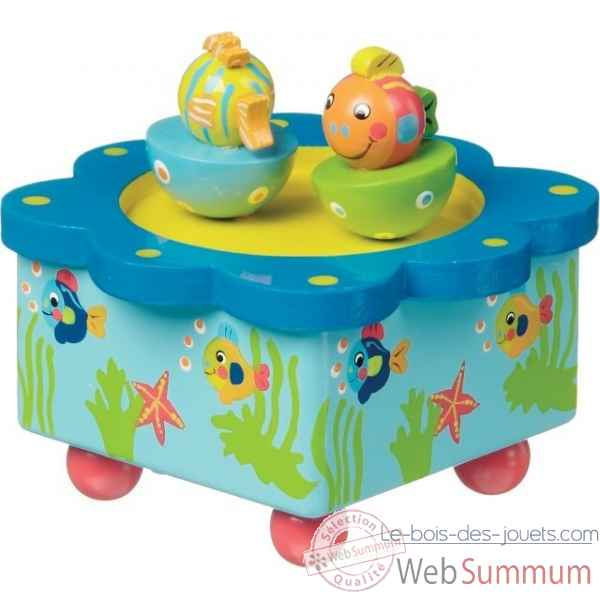 boite a musique poissons New classic toys -8202