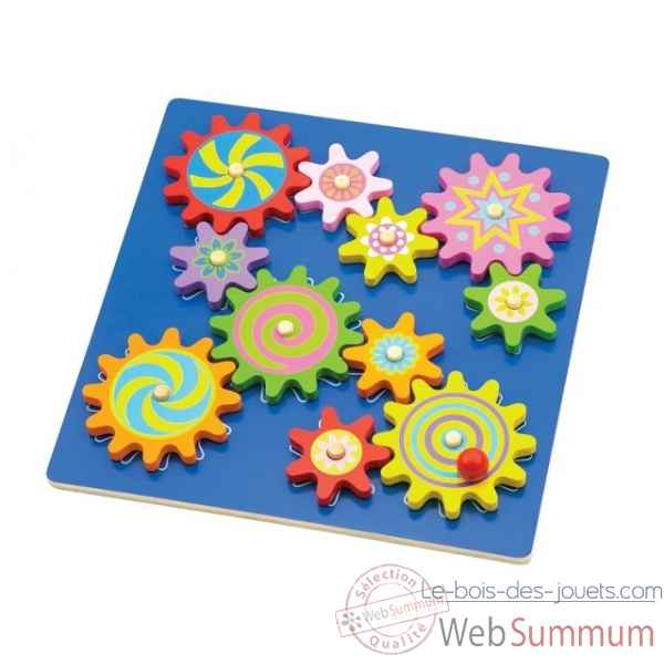 puzzle rotatif a engrenage New classic toys -0525