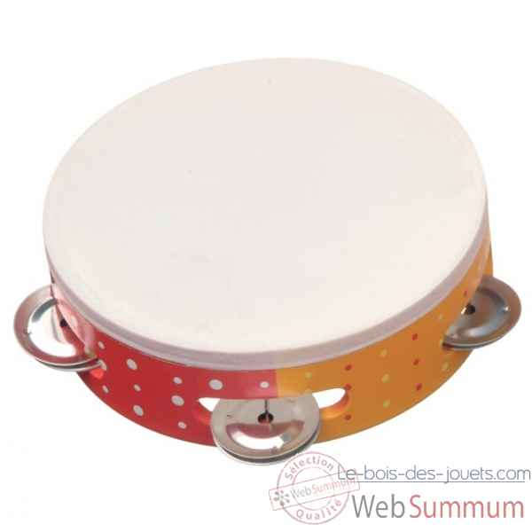 tambourin orange/rouge/jaune New classic toys -0480