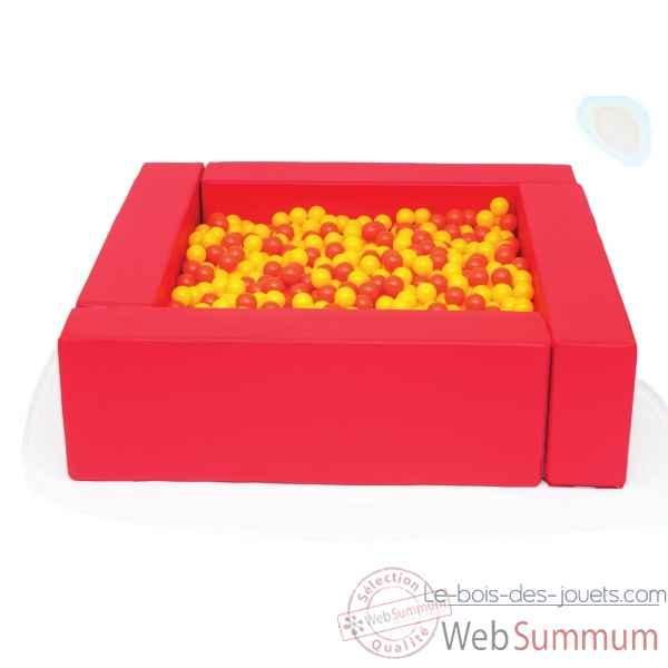 piscine balles rouge novum 4529008 dans jeux et jouets sur le bois des jouets - Balle Pour Piscine A Balle Pas Cher