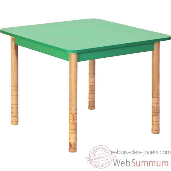 Table carree en couleurs vert Novum -4478923