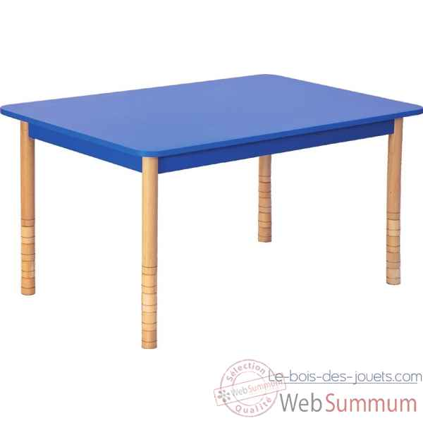 Table en couleurs rectangle bleu Novum -4478942