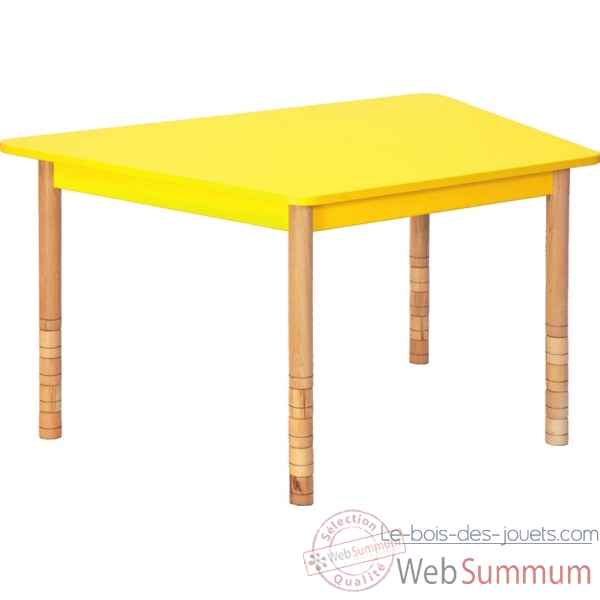 Table en couleurs trapeze jaune Novum -4478934