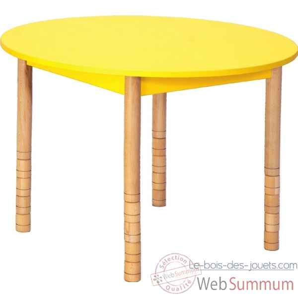 Table ronde en couleurs 100 cm jaune Novum -4478994