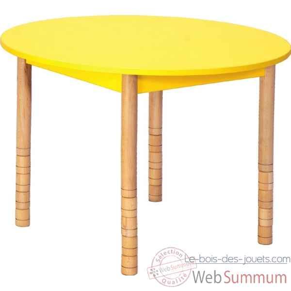 table ronde en couleurs 100 cm vert novum 4478993 dans table sur le bois des jouets. Black Bedroom Furniture Sets. Home Design Ideas