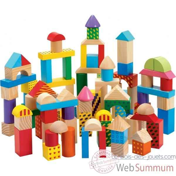 baril 100 cubes couleur en bois 0802 de new classic toys dans tous les jouets. Black Bedroom Furniture Sets. Home Design Ideas