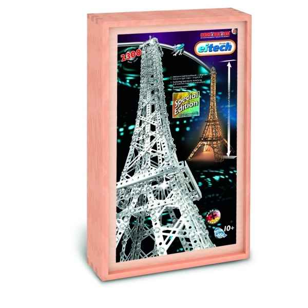 Construction Eitech Tour Eiffel illuminee en coffret Bois 100034