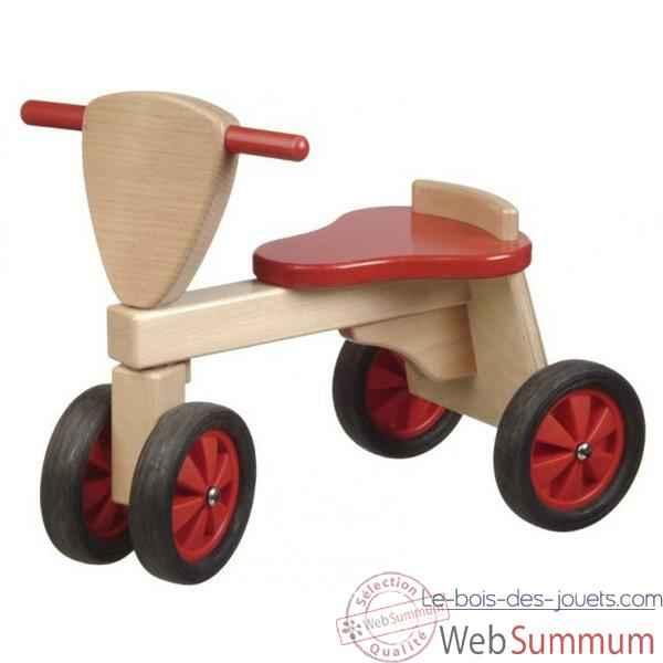 Porteur Tricycle couleur rouge et naturel 1390 dans Tous les jouets