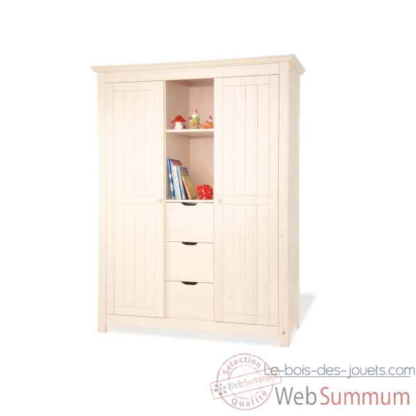 armoire 39 finja 39 grande pinolino 141633g dans finja sur le. Black Bedroom Furniture Sets. Home Design Ideas