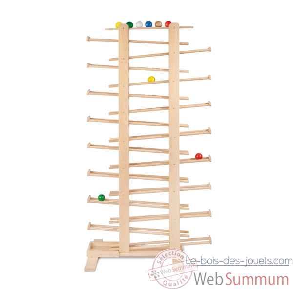 Circuit billes en bois quadrilla set twist et rails for Construction xylophone bois