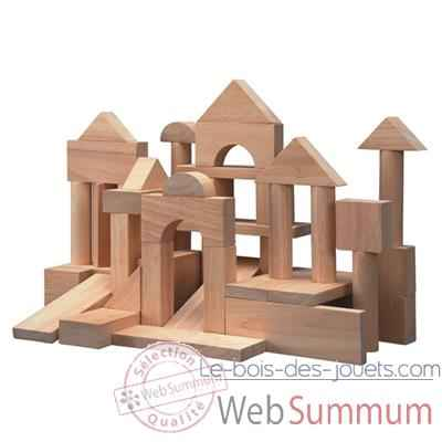 50 blocs bois naturel 35mm- Plan Toys 9739