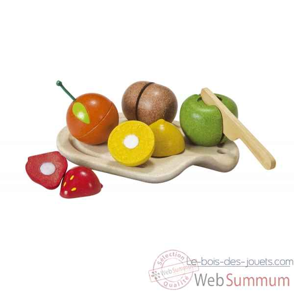Assortiment de fruits - planwood en bois  Plan Toys -3600