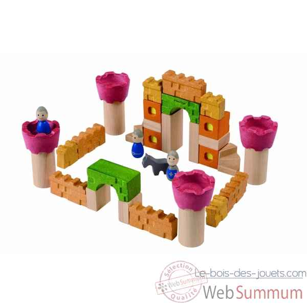 Bloc de construction - chateau Plan Toys -5651