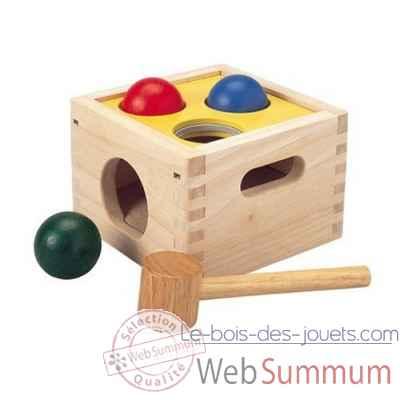 boite marteler jouet en bois plantoys 9424 de plan toys dans tous les jouets. Black Bedroom Furniture Sets. Home Design Ideas