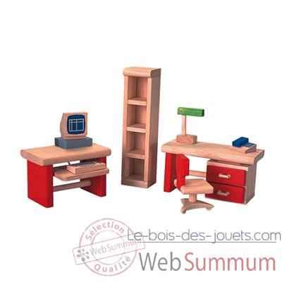 bureau en bois plan toys 7305 dans meubles maison de poup es sur le bois des jouets. Black Bedroom Furniture Sets. Home Design Ideas